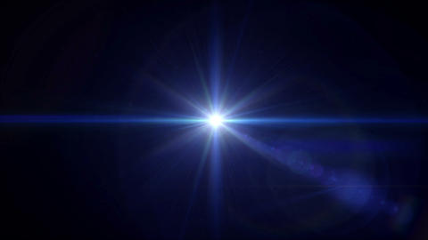 blue Star cross lens flare center 4k Animation