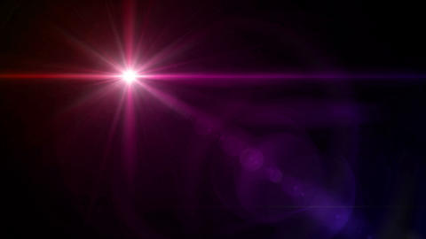 color Star cross color lens flare 4k Animation