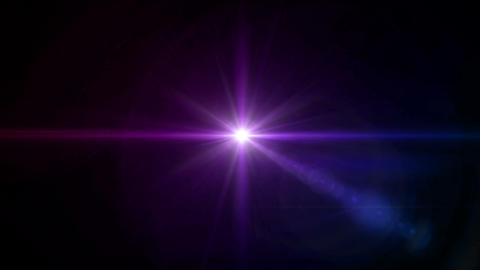color Star cross color lens flare center 4k Stock Video Footage
