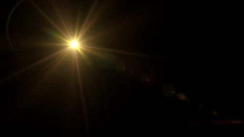 gold Star lens flare 4k Animation