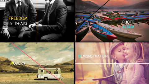Clean Style Slideshow After Effects Template
