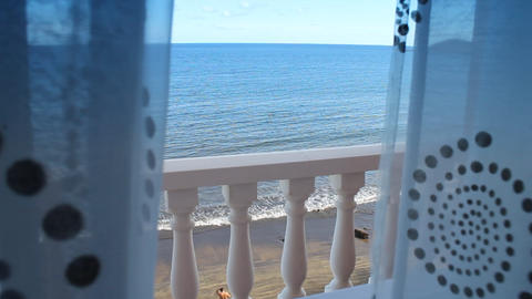 Ocean view from the window Footage