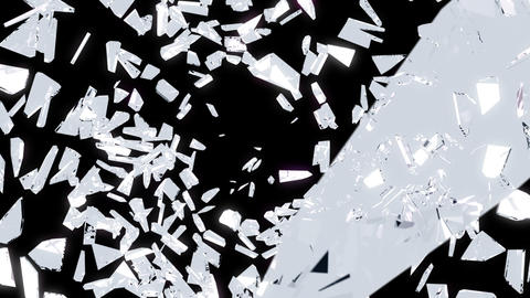 Broken glass: destruction with slow motion. Alpha is... Stock Video Footage