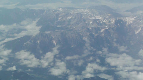 Aerial over European Alps 05 Stock Video Footage