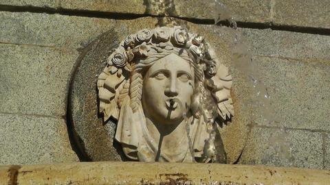 Antic European Fountain 01 Stock Video Footage
