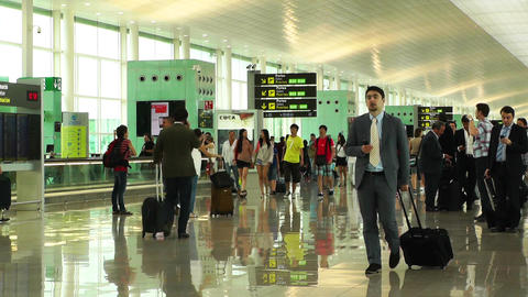 Barcelona Aeroport Del Prat International Airport Terminal 06 Footage