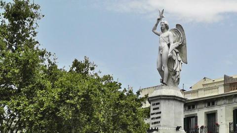 Barcelona Avinguda del Marques de lArgentera 02 Stock Video Footage
