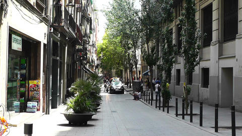 Barcelona Downtown 02 Stock Video Footage