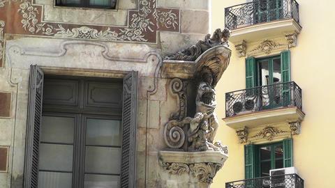 Barcelona Facade 02 Stock Video Footage