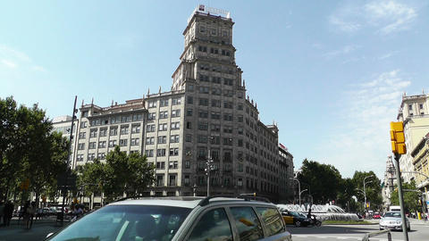 Barcelona Gran Via and Passeig De Gracia crossing 02 Footage