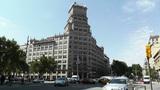 Barcelona Gran Via and Passeig De Gracia crossing 02 Footage