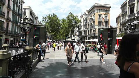 Barcelona La Rambla 03 Stock Video Footage