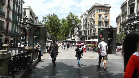 Barcelona La Rambla 03 Footage