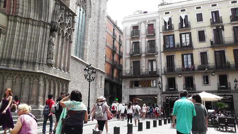 Barcelona Placa De Santa Maria 01 Stock Video Footage