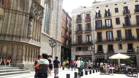 Barcelona Placa De Santa Maria 01 Footage