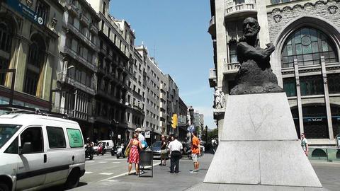 Barcelona Via Layetana 02 Fransesc Cambo Stock Video Footage