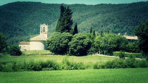 Beautiful European Summer Countryside 03 stylized Stock Video Footage