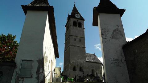 Church in Kitzbuhel Austria 01 Stock Video Footage