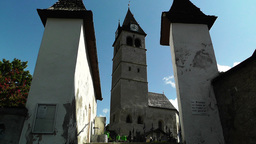 Church in Kitzbuhel Austria 01 Stock Video Footage