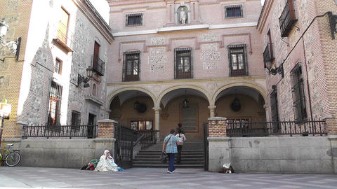 Church of San Gines Madrid Stock Video Footage