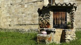 Closed Christian Shrine Made By Stone stock footage