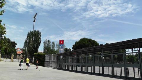 Estadi Camp Nou 03 pans Stock Video Footage