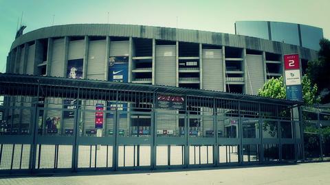 Estadi Camp Nou 07 stylized Stock Video Footage