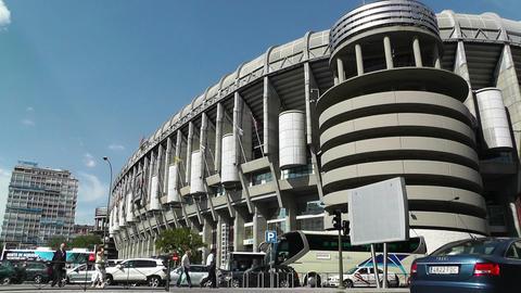 Estadio Santiago Bernabeu Madrid 01 Stock Video Footage