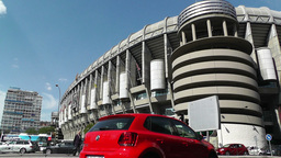 Estadio Santiago Bernabeu Madrid 01 Stock Video Footage