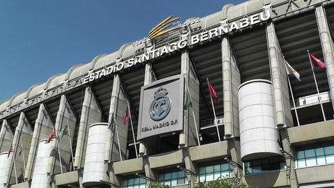 Estadio Santiago Bernabeu Madrid 03 Stock Video Footage