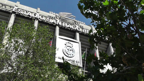Estadio Santiago Bernabeu Madrid 05 Stock Video Footage