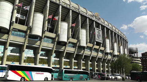 Estadio Santiago Bernabeu Madrid 07 Stock Video Footage