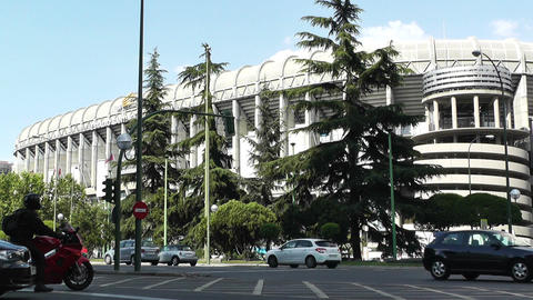 Estadio Santiago Bernabeu Madrid 13 Stock Video Footage