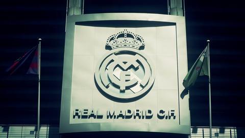 Estadio Santiago Bernabeu Madrid 15 stylized Stock Video Footage