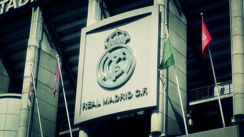 Estadio Santiago Bernabeu Madrid 17 stylized Stock Video Footage