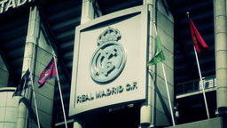 Estadio Santiago Bernabeu Madrid 17 stylized Stock Video Footage