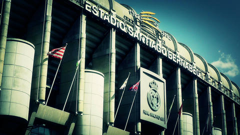 Estadio Santiago Bernabeu Madrid 19 stylized Stock Video Footage