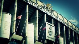 Estadio Santiago Bernabeu Madrid 19 stylized Stock Video Footage
