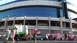 Estadio Vicente Calderon before match Copa Del Rey Final 2012 01 Footage