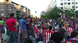 Estadio Vicente Calderon before match Copa Del Rey Final 2012 09 Barca Fans handh Footage