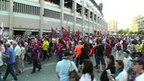 Estadio Vicente Calderon before match Copa Del Rey Final 2012 11 Barca Fans handh Footage
