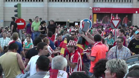 Estadio Vicente Calderon before match Copa Del Rey Final 2012 13 Barca Fans handh Footage