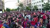 Estadio Vicente Calderon before match Copa Del Rey Final 2012 15 Barca Fans handh Footage