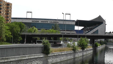 Estadio Vicente Calderon Madrid 01 Stock Video Footage