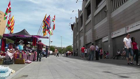 Estadio Vicente Calderon Madrid 03 prematch moments Stock Video Footage