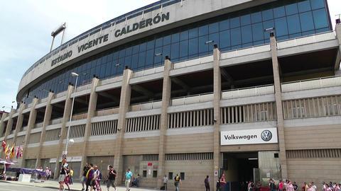 Estadio Vicente Calderon Madrid 07 prematch moments Stock Video Footage