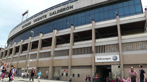 Estadio Vicente Calderon Madrid 07 prematch moments Stock Video Footage