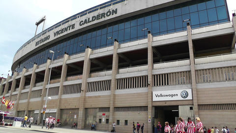 Estadio Vicente Calderon Madrid 07 prematch moments Footage