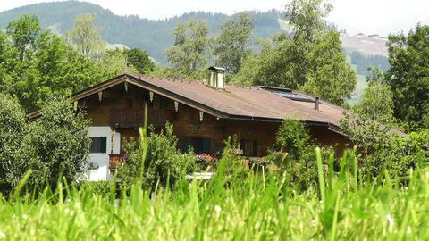 European Alps Austria 22 house Stock Video Footage
