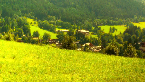European Alps Austria 30 stylized Stock Video Footage